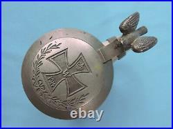 Antique German Germany WW1 1915 Small Ceramic Lidded Beer Stein Mug