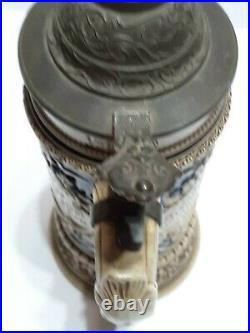 Antique german lidded beer steins 1900