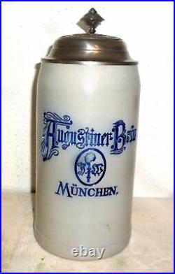 Augustiner Brau Munich Oktoberfest 2016 lidded Masskrug German Beer Stein