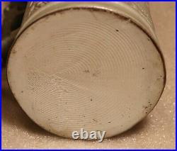Bierfabrication 1873 1/2L German beer stein antique, painted hunter inlaid lid