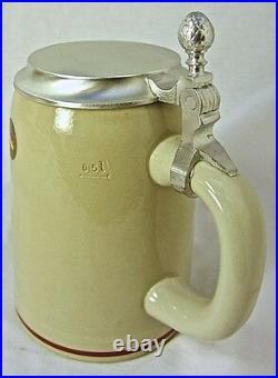 Collectable German Lidded Beer Stein. Fox Hunting Scene 0.5 Liter