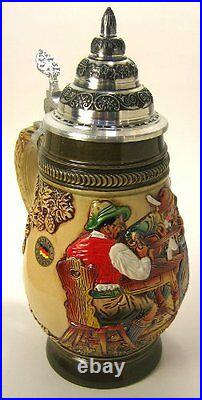 Collectable German Lidded Beer Stein. Hand-painted Stolen Kiss