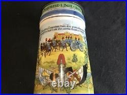German Regimental Beer Stein 3 Feld Artillerie Regiment Lithophane & Cannon Lid