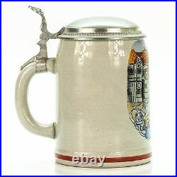 Marzi & Remy Antique Lidded Mug German Beer Stein Street Orchestra ca. 1920's