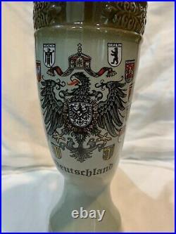Original King 11 Stein Viking Horn Deutschland German Beer Very Rare Lidded HTF
