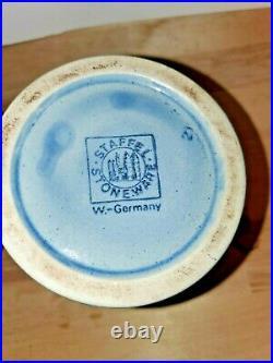 Vintage German Lidded Beer Stein Kopfenumab Gotterhalt's with Handle