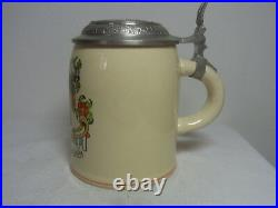 Vintage German Tin Top Lidded Beer Stein Munich Child #XX