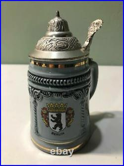 Vintage King West German Made Beer Stein Pewter Lid 389S COOL COLLETIBLE RARE